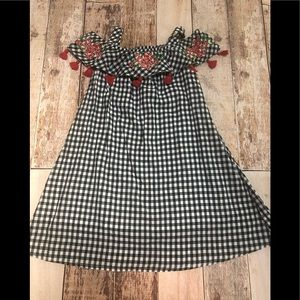 Tommy Bahama Kids gingham over the shoulder dress